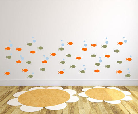 Children's Room Cute Fish Wall Art