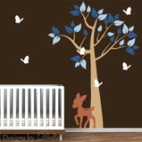 Vinyl Wall Nursery Forest Tree Decal