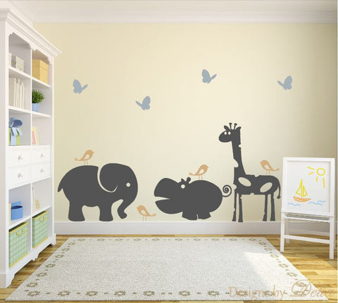 Animal Wall Mural For Childrenu0027s Room, Removable Vinyl Wall Decals Part 75
