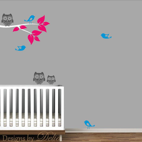 Colorful Tree Branch Decal for Nursery