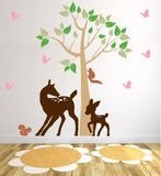Nursery Decal Wall Mural with Forest Animals