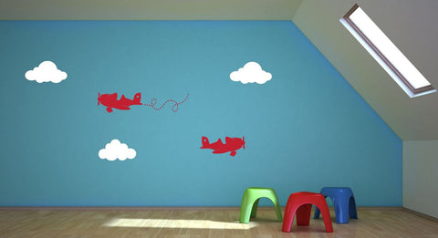Airplane Wall Decals for Children's Room