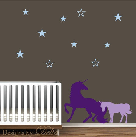 Children's  Room Unicorn Wall Decals