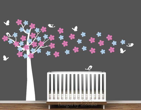 Cherry Blossom Wall Decal for Nursery