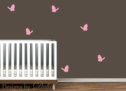 Butterflies Wall Decal - Set of 6