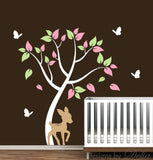 Wall Decal for Nursery with Colorful Tree and Animals