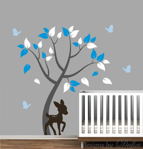 Forest Tree and Animals Vinyl Wall Mural