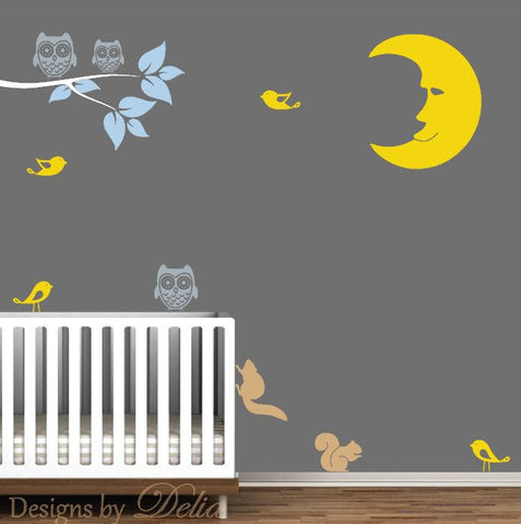 Children's Room Wall Mural with Nursery Decals