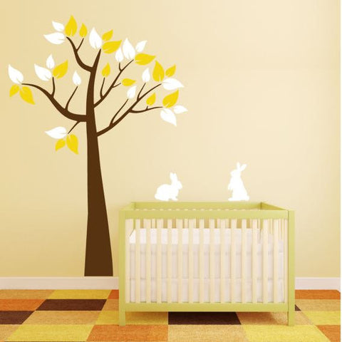 Tree Wall Decal with Bunnies for Children's Room