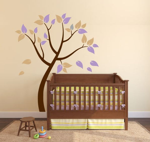 Wall Decal for Nursery with Beautiful Tree (Custom Colors)