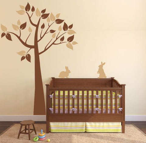 Tree Wall Decal with Bunnies for Baby Room