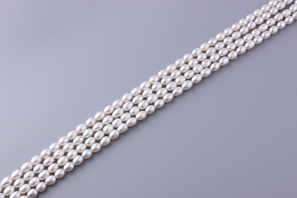 Oval Shape Freshwater Pearl 7.5-8mm (SKU: 910808 / 1002720) - Wing Wo Hing Jewelry Group - Pearl Jewelry Manufacturer