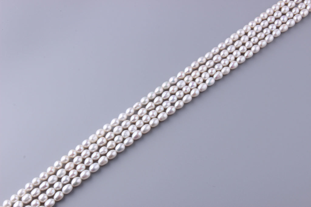 Oval Shape Freshwater Pearl 7-7.5mm (SKU: 912508 / 1002304) - Wing Wo Hing Jewelry Group - Pearl Jewelry Manufacturer