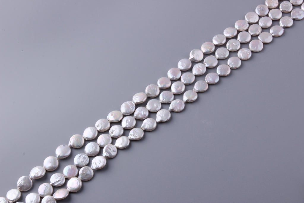 Coin Shape Freshwater Pearl 12-15mm (SKU: 913708 / 1004169) - Wing Wo Hing Jewelry Group - Pearl Jewelry Manufacturer