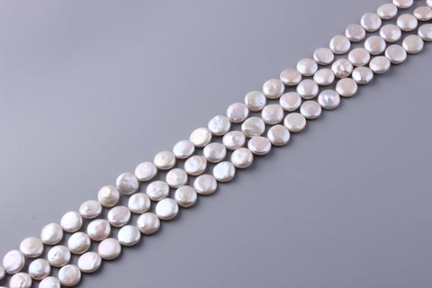 Coin Shape Freshwater Pearl 10.5-13mm (SKU: 913708 / 1004183)