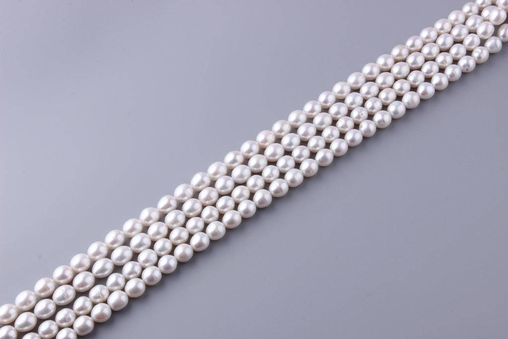 Oval Shape Freshwater Pearl 9.5-10mm (SKU: 914308 / 1002229) - Wing Wo Hing Jewelry Group - Pearl Jewelry Manufacturer