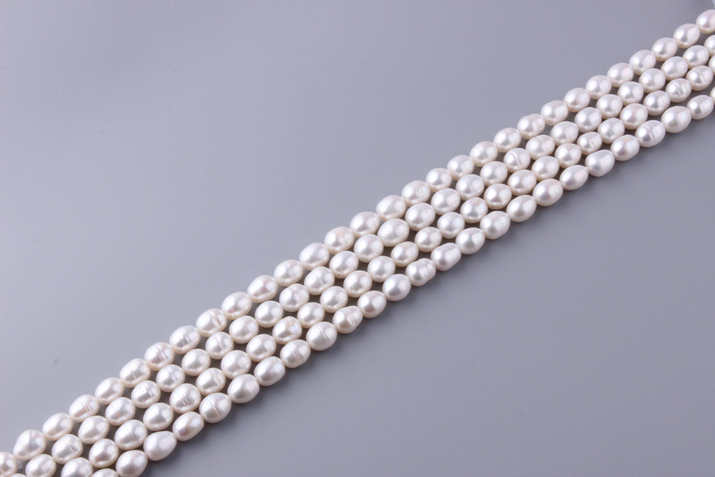 Oval Shape Freshwater Pearl 9.5-10.5mm (SKU: 916208 / 1002226) - Wing Wo Hing Jewelry Group - Pearl Jewelry Manufacturer