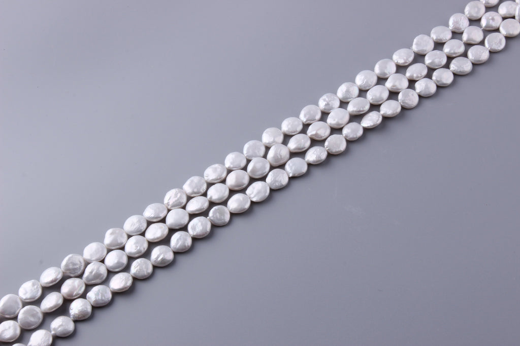 Coin Shape Freshwater Pearl 11-12mm (SKU: 916208 / 1004185) - Wing Wo Hing Jewelry Group - Pearl Jewelry Manufacturer