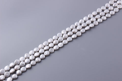 Coin Shape Freshwater Pearl 11-12mm (SKU: 916208 / 1004185)