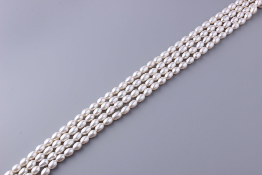 Oval Shape Freshwater Pearl 7-7.5mm (SKU: 916608 / 1002299) - Wing Wo Hing Jewelry Group - Pearl Jewelry Manufacturer