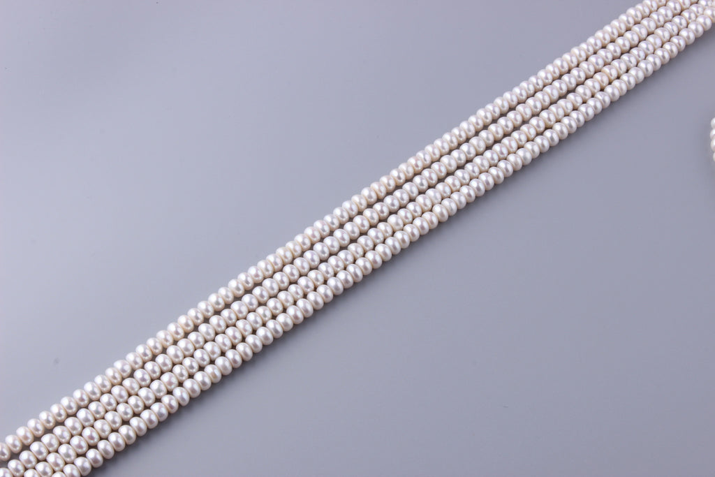 Roundel Shape Freshwater Pearl 7-7.5mm (SKU: 917108 / 1003036) - Wing Wo Hing Jewelry Group - Pearl Jewelry Manufacturer