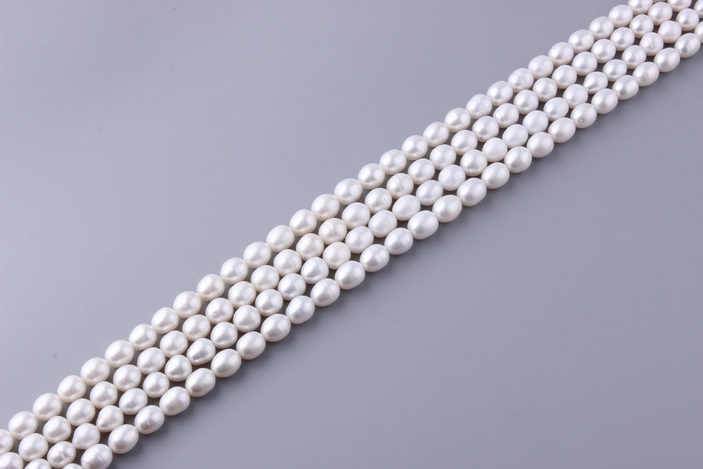 Oval Shape Freshwater Pearl 10-10.5mm (SKU: 917208 / 1002224) - Wing Wo Hing Jewelry Group - Pearl Jewelry Manufacturer