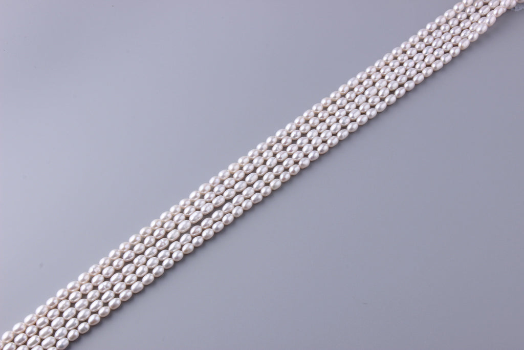 Oval Shape Freshwater Pearl 5-5.5mm (SKU: 917408 / 1002721) - Wing Wo Hing Jewelry Group - Pearl Jewelry Manufacturer