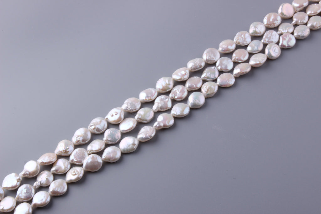 Coin Shape Freshwater Pearl 14-15mm (SKU: 918408 / 1004166) - Wing Wo Hing Jewelry Group - Pearl Jewelry Manufacturer