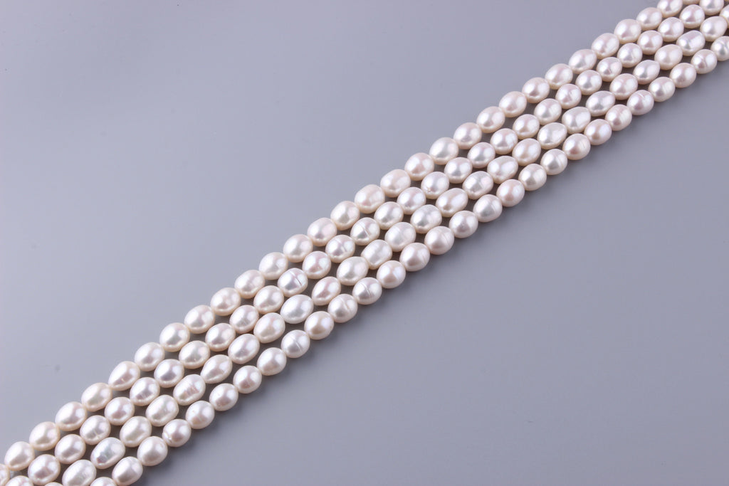 Oval Shape Freshwater Pearl 9.5-10.5mm (SKU: 926108 / 1002225) - Wing Wo Hing Jewelry Group - Pearl Jewelry Manufacturer