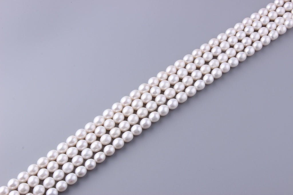 Oval Shape Freshwater Pearl 10-10.5mm (SKU: 927808 / 1002223) - Wing Wo Hing Jewelry Group - Pearl Jewelry Manufacturer