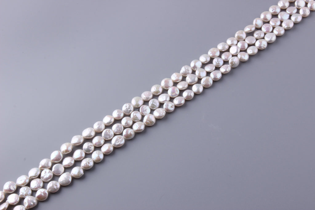 Coin Shape Freshwater Pearl 9-10mm (SKU: 932508 / 1004195) - Wing Wo Hing Jewelry Group - Pearl Jewelry Manufacturer