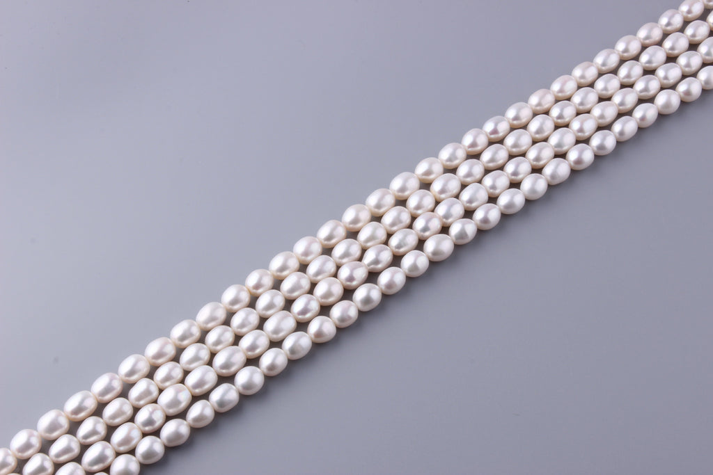 Oval Shape Freshwater Pearl 9.5-10mm (SKU: 946308 / 1002234) - Wing Wo Hing Jewelry Group - Pearl Jewelry Manufacturer