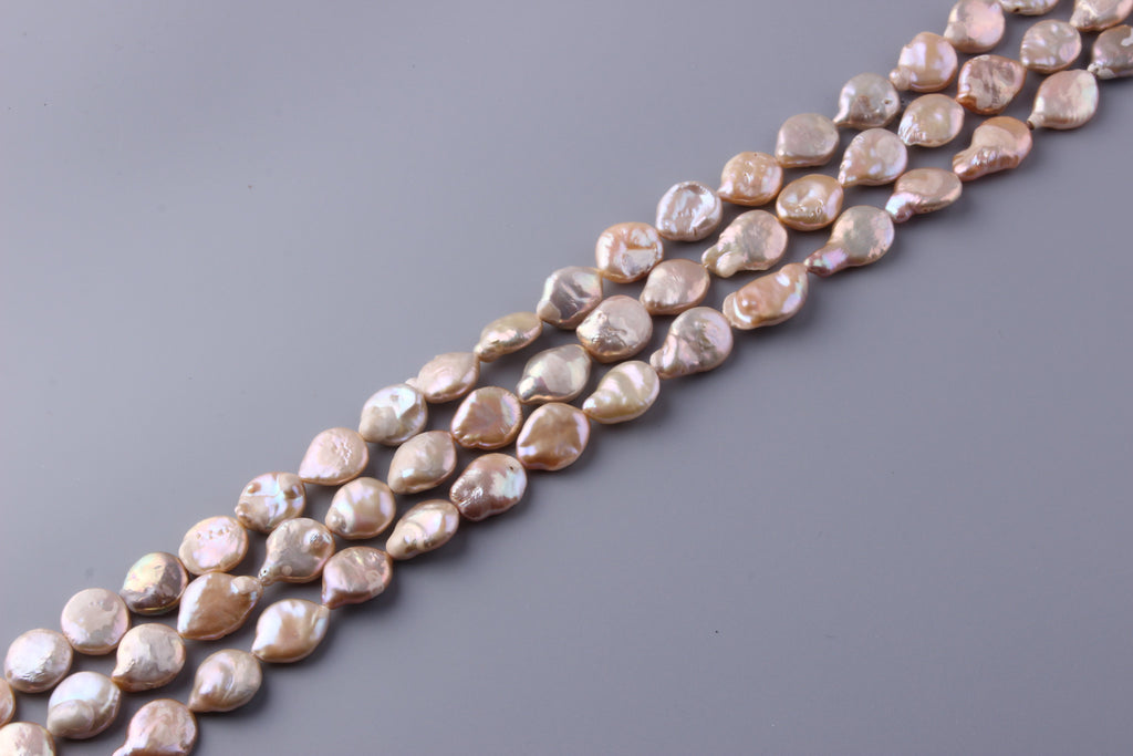 Coin Shape Freshwater Pearl 15.5-18mm (SKU: 96508 / 1004581) - Wing Wo Hing Jewelry Group - Pearl Jewelry Manufacturer