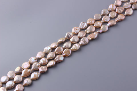 Coin Shape Freshwater Pearl 15.5-18mm (SKU: 96508 / 1004581)