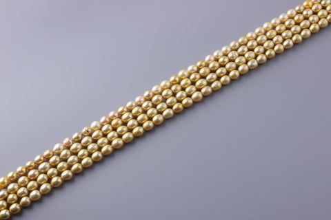 Oval Shape Dyed Color Freshwater Pearl 8-8.5mm (SKU: 97408 / 13460)