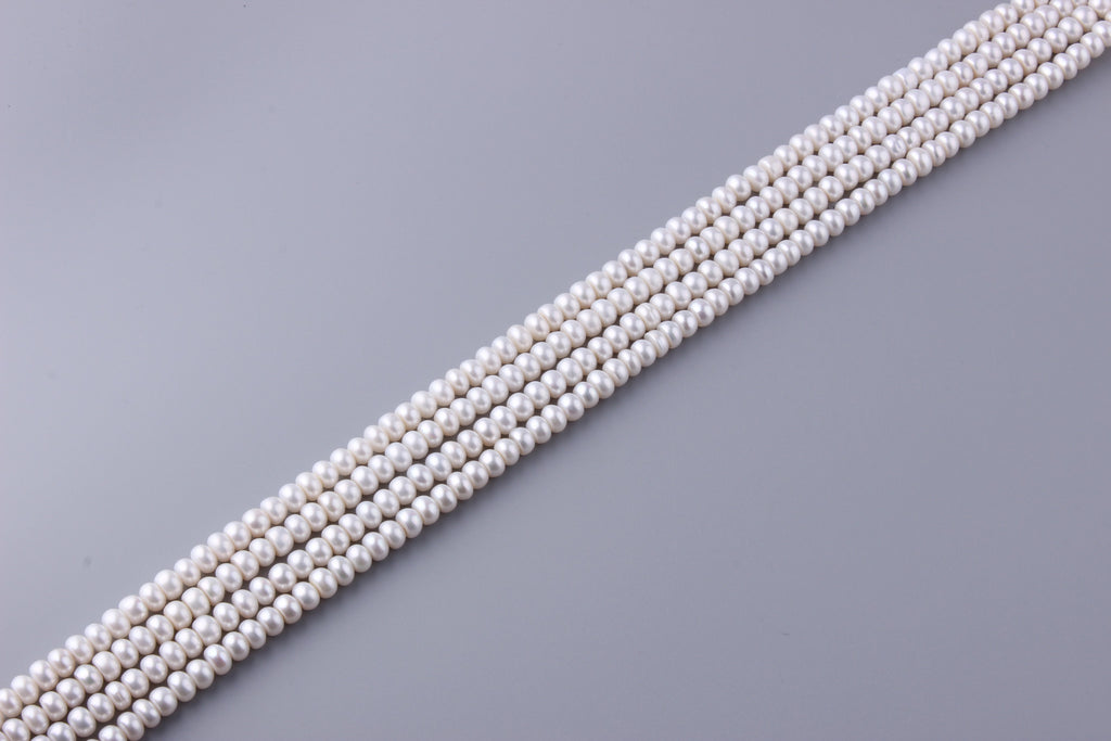 Roundel Shape Freshwater Pearl 7-7.5mm (SKU: 98608 / 1003039) - Wing Wo Hing Jewelry Group - Pearl Jewelry Manufacturer