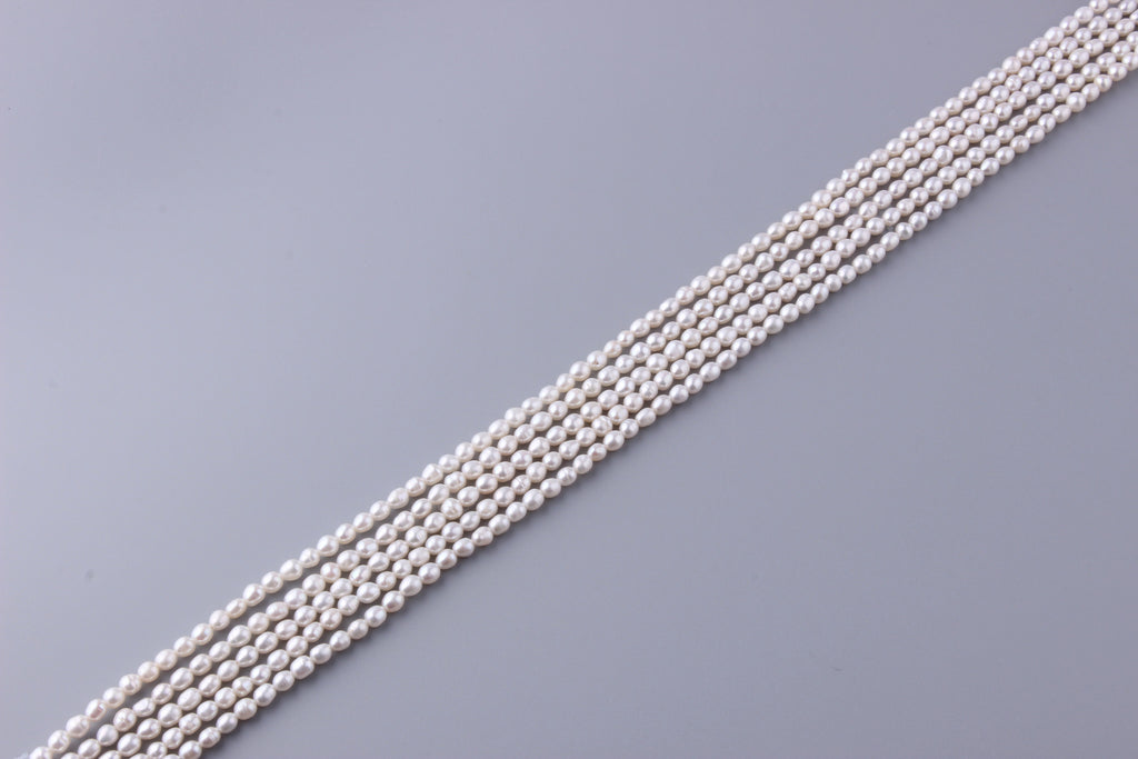Oval Shape Freshwater Pearl 4.5-5mm (SKU: 99408 / 1002375) - Wing Wo Hing Jewelry Group - Pearl Jewelry Manufacturer