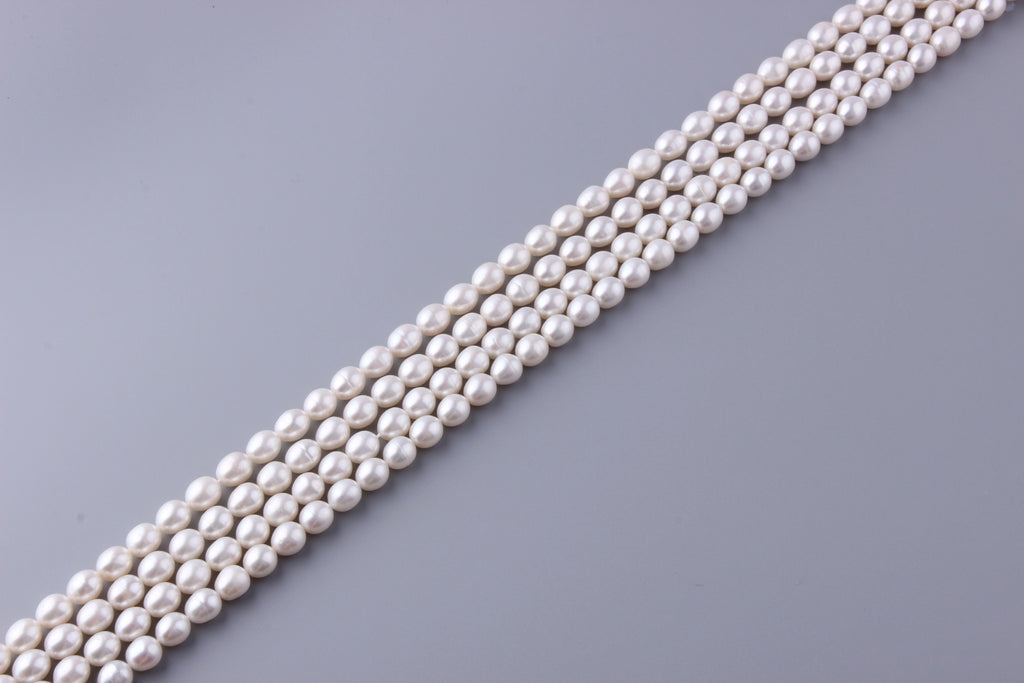 Oval Shape Freshwater Pearl 8.5-9mm (SKU: 910208 / 1002256) - Wing Wo Hing Jewelry Group - Pearl Jewelry Manufacturer