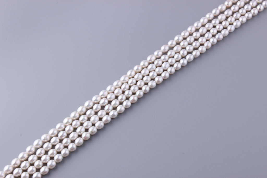 Oval Shape Freshwater Pearl 8-8.5mm (SKU: 918508 / 1002259) - Wing Wo Hing Jewelry Group - Pearl Jewelry Manufacturer