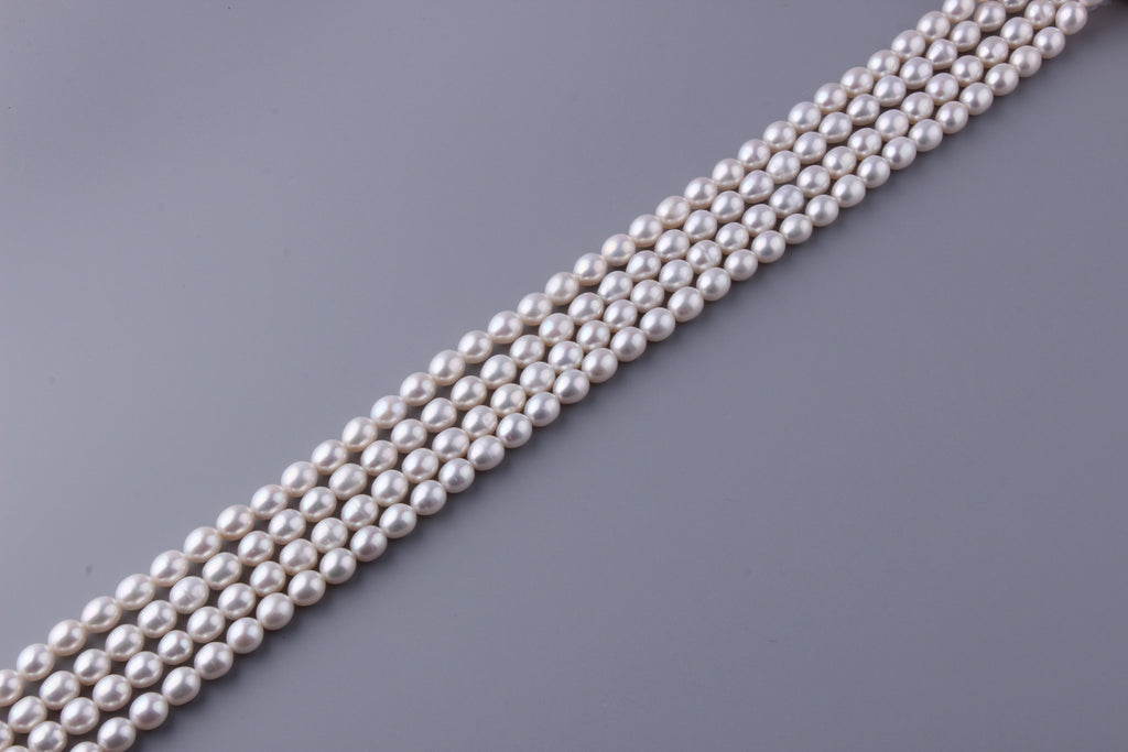 Oval Shape Freshwater Pearl 8-8.5mm (SKU: 913708 / 1002264) - Wing Wo Hing Jewelry Group - Pearl Jewelry Manufacturer