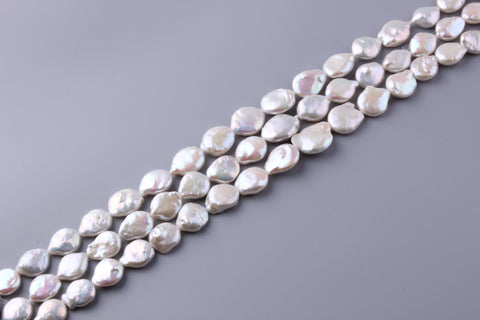 Coin Shape Freshwater Pearl 15-20mm (SKU: 966308 / 1003106)