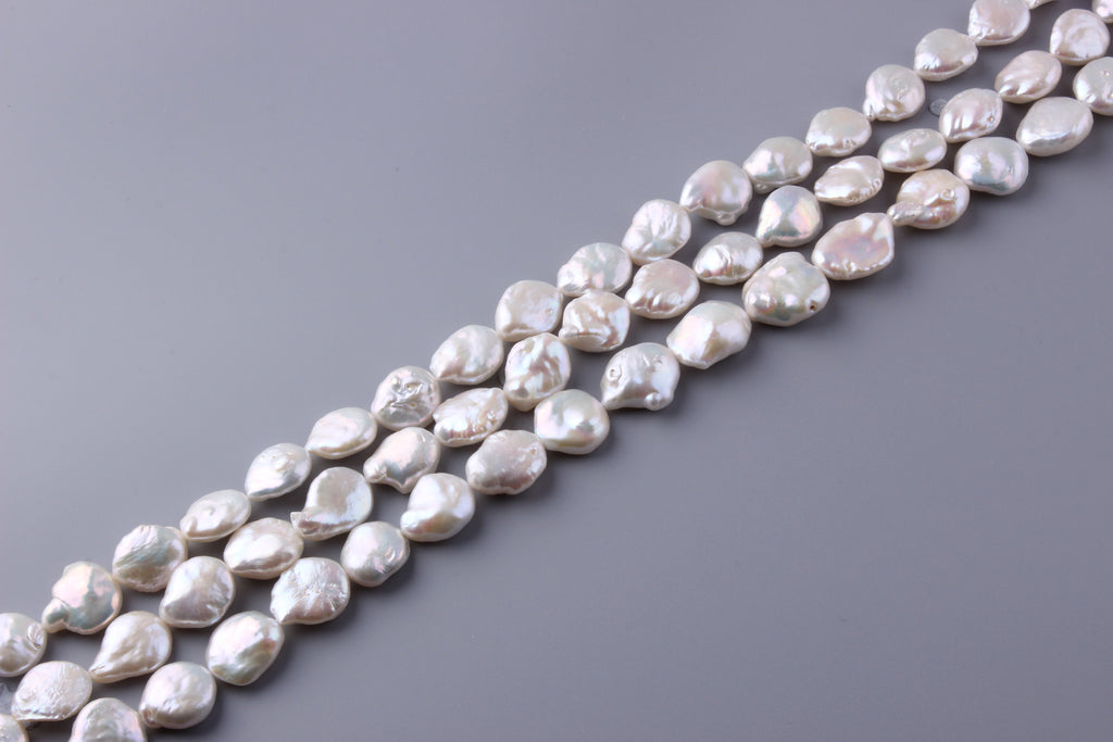Coin Shape Freshwater Pearl 16.5-17.5mm (SKU: 926308 / 1003373) - Wing Wo Hing Jewelry Group - Pearl Jewelry Manufacturer
