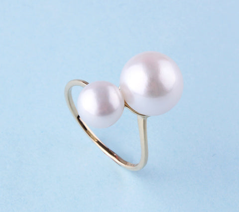 14K Yellow Gold with Freshwater Pearl