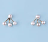 14K Yellow Gold Earrings with Freshwater Pearl - Wing Wo Hing Jewelry Group - Pearl Jewelry Manufacturer