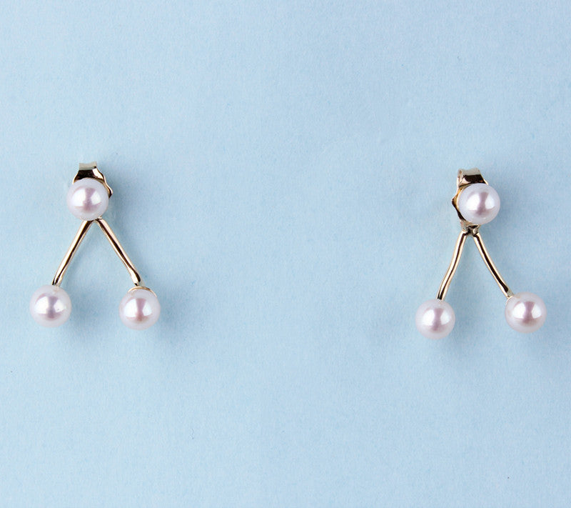 14K Yellow Gold with Freshwater Pearl Earrings - Wing Wo Hing Jewelry Group - Pearl Jewelry Manufacturer