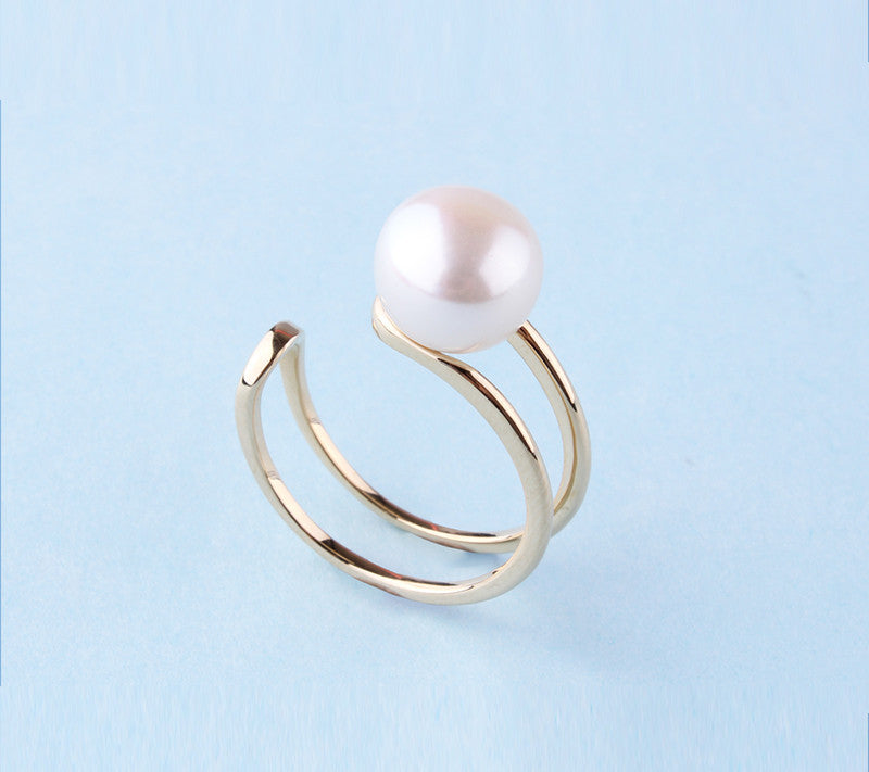 14K Yellow Gold Ring with Freshwater Pearl - Wing Wo Hing Jewelry Group - Pearl Jewelry Manufacturer
