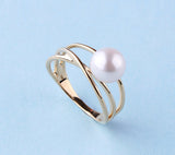 14K Yellow Gold with Freshwater Pearl Ring - Wing Wo Hing Jewelry Group - Pearl Jewelry Manufacturer