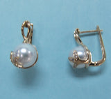 14K Yellow Gold Freshwater Pearl Earrings - Wing Wo Hing Jewelry Group - Pearl Jewelry Manufacturer