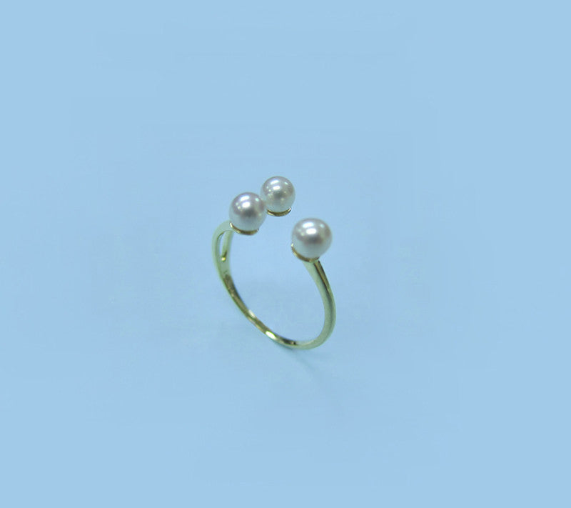 14K Yellow Gold Freshwater Pearl Ring - Wing Wo Hing Jewelry Group - Pearl Jewelry Manufacturer