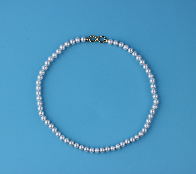 9K Yellow Gold Freshwater Pearl Necklace - Wing Wo Hing Jewelry Group - Pearl Jewelry Manufacturer